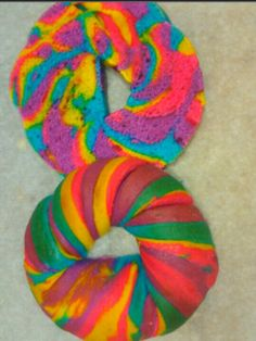 Rainbow collection bagel