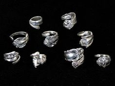 the eclectic ark: How to Recycle Silverware into Art - DIY #Spoon Rings #Jewelry