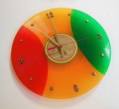 BOB MARLEY Colored Vinyl Record Wall Clock by RecordsAndStuff