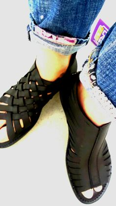 #LointsofHolland #sandal #leather & #rubber #black #Opanka #Genova #fashion