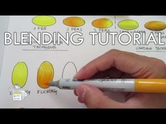 Copic markers tutorial for beginners - blending combinations {✎Tutorial} - YouTube