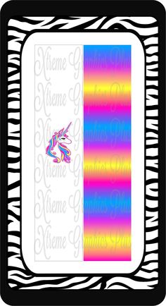 Unicorn Ready to Press Sublimation Bow Strips