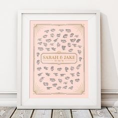 This beautiful (Unframed) 'DECO BORDER' wedding guest book print makes the perfect unusual alternative to the traditional guest book and is personalised with the couples names and wedding date. Available in 2 sizes, with spaces around the couples names for all your guests well wishes and signatures. The print can be done in one of our standard colours or customised to match your theme, just select custom colour from the drop down box and leave a note with your colours when you check out… Art Deco Wedding Theme, Wedding Art, Art Deco Borders, Happy To Meet You, Personalised Prints, Wedding Guest Book Alternatives, Unique Weddings, Fine Art Prints, At Least