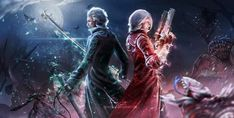 Vergil Dmc, Dante Devil May Cry, Fantasy Characters, Fictional Characters, Great Albums, Red Hood, Fantasy Character Design, Black Panther, Thor