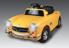 Mercedes Benz Classic SL Yellow Ride On Kid Toy Electric 6V w Remote Control  #MercedesLicensed