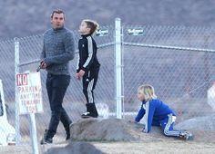 Gwen Stefani and Gavin Rossdale take a walk with their boys Kingston and Zuma in Mammoth, California