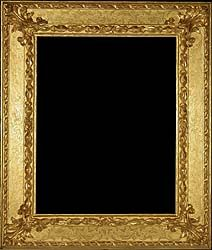 Baroque antique picture frame carved and gilded - 17th century