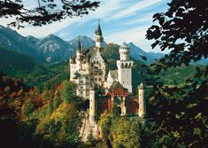 Neuschwanstein Castle  Neuschwanstein Castle is one of a kind in the world. It was built in 19th-century in Bavaria, situated on a rocky hill near Hohenschwangau in southwest Bavaria, Germany.