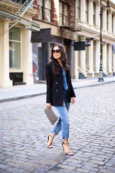 Easy chic denim + blazer
