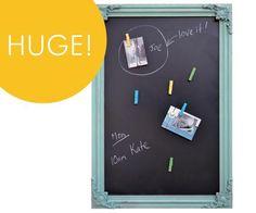 Homewares & Home Decor Online-Baroque Magnetic Blackboard - Aqua-Home & Living