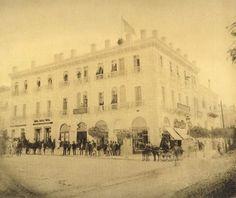 Stadiou and korai street, Grand Hotel de Athenes.