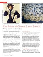 Clones Lace Patterns and History: Part 3 from Spring 2012