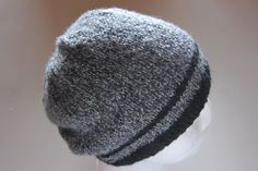 Knitted beanie for a man. slightly slouchy look.