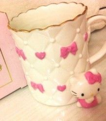 ~ Hello Kitty Coffee Mug ~ Hello Kitty Shop, Hello Kitty Cookies, Hello Kitty Kitchen, Hello Hello, Pretty Cats, Pretty In Pink, My Coffee, Coffee Cups, Hello Kitty Collection