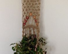 Macrame Plant Hanger 110 cm by YourMacrame on Etsy