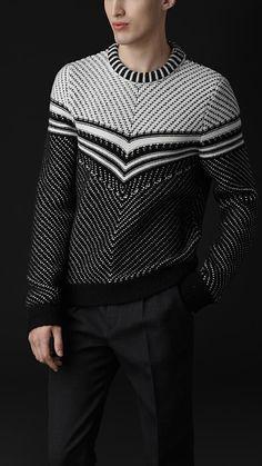 Burberry Prorsum AW12 Chevron Stripe Sweater ~~~~ Jayzus chriiiiiist #knitspirationpdx