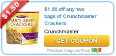 $1.50 off any two bags of Crunchmaster Crackers #coupon