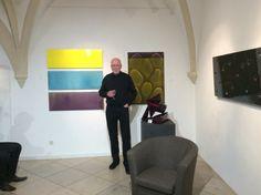 """Peter Nowotny hat gestern Abend zum Start unserer Veranstaltungsreihe """"Künstler erklärt Künstler"""" die Werke Willi Sibers erklärt."""