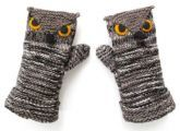 Owl mitts inspiration & many other knitting ideas