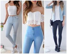 Crop Top Outfits The summer season demands light, airy, breathable dresses in fabrics like cotton and in soft, muted colors that reflect the sunlight. There are multiple options for women's s… Teen Fashion Outfits, Mode Outfits, Girly Outfits, Outfits For Teens, Trendy Outfits, Teens Clothes, Women's Clothing, Teen Party Outfits, Edgy Teen Fashion