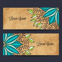 Diseño de banners con mandalas Vector Gratis
