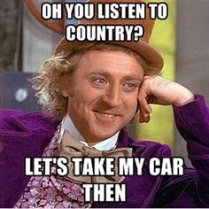 This cracked me up...but...it's pretty true.  Country makes me want to bang my head against a wall.