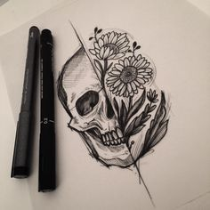 tattoos on back of neck meaning Skull Thigh Tattoos, Back Tattoos, Future Tattoos, Body Art Tattoos, Pretty Skull Tattoos, Key Tattoos, Female Tattoos, Foot Tattoos, Sleeve Tattoos