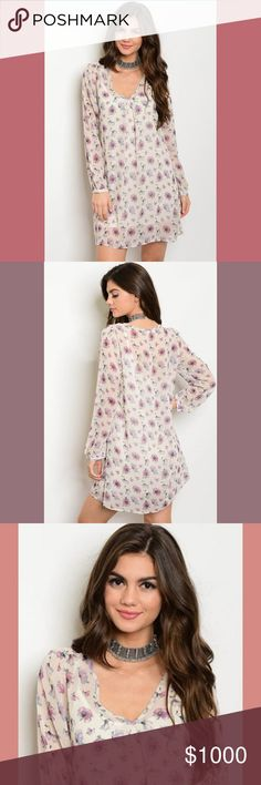 🌺 COMING SOON!!! 🌺 the 'samanthia' tunic dress  🌺 this fun v-neck long sleeve floral print chiffon tunic dress is perfect for summer!  🌺 it is the perfect comfortable, flattering day dress that with the right accessories and shoes, can take you late into the night!!  🚫no trades🚫 🚫no holds🚫 🌺 price firm unless bundled🌺 Tops Tunics
