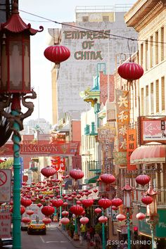 Chinatown in San Francisco. I remember dining at the Empress of China. I loved the food and shopping.