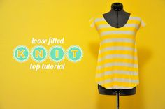 Loose Fitted Knit Top tutorial by Cotton & Curls #sew #tute #diy