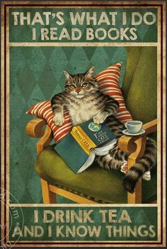 I Love Books, Good Books, Books To Read, My Books, Cute Cats, Funny Cats, Funny Animals, Cute Animals, Wallpaper Bonitos