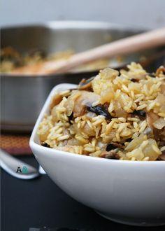 Baked Mushroom Rice-