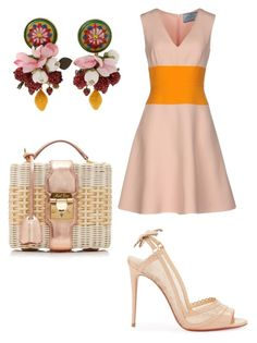 """Untitled #415"" by anamlopes on Polyvore featuring Prada, Christian Louboutin, Dolce&Gabbana and Mark Cross"