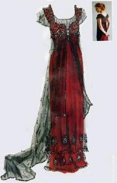 ooh the titanic dress. I would love to wear this as a costume Vestidos Vintage, Vintage Gowns, Mode Vintage, Vintage Outfits, Vintage Clothing, Dress Vintage, Vintage Evening Gowns, Vintage Style, Titanic Costume