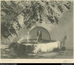 Cazneaux, Harold, 1878-1953. The fountain [picture]