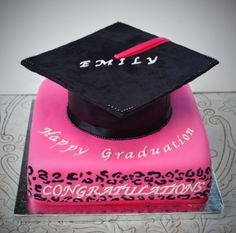 Cheetah Graduation Cake By asimeone on CakeCentral.com