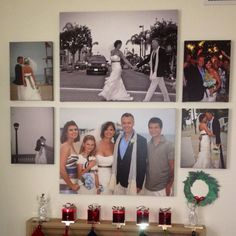 Wedding canvas photos. Love my wall!