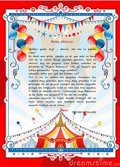 Carta motivación. Payaso Batacazo Child Day, Ideas Para, Map, School, Hollywood, Kid Art, Carnival, Circus Theme, Circus Activities