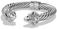 David Yurman Renaissance Bracelet in Sterling Silver Gold And Silver Bracelets, Silver Earrings, Silver Ring, Silver Jewelry, Chains For Men, David Yurman, Jewelry Bracelets, Jewelry Accessories, Rings For Men