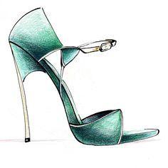 casadei shoe sketch - Google Search