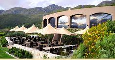 Roca Restaurant at Dieu Donné Wine Estate in Franschhoek overlooking the beautiful valley.