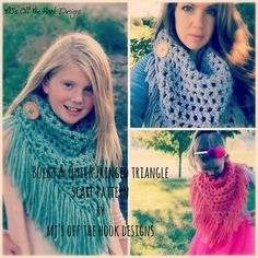 Ravelry: Bulky & Quick Fringed Triangle Scarf pattern by MJ's Off The Hook Designs