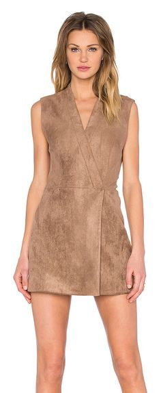 Caryn faux suede dress by BCBGMAXAZRIA. Self: 94% poly 6% spandexLining: 68% cotton 28% nylon 4% spandex. Dry clean only. Fully lined. Fr...