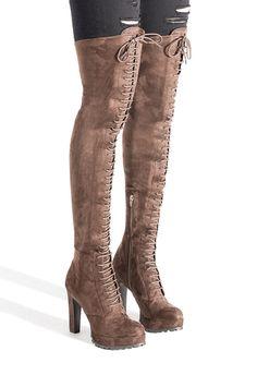 cdc29af719c7e REMI LACE UP BOOT - ShoeDazzle Shoe Dazzle, Lace Up Boots, Beautiful Shoes,