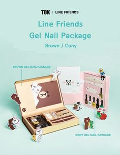 <TOK x Line Friends>Brown Cony Gel Nail Package Pedicure Led Lamp Sticker  | Health & Beauty, Nail Care, Manicure & Pedicure, Manicure/Pedicure Tools & Kits | eBay!