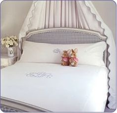 Monogrammed bedding from Leontine Linens