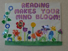 Children's area at Haggard Library  -inspired by the book, Planting a Rainbow by Lois Ehlert