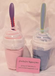 I actually kind of like this idea for a baby shower gift. I would use Sbucks cups and pretty labels.