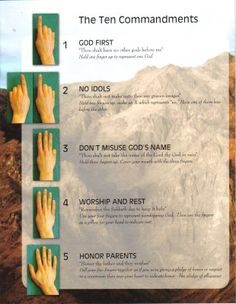 Teach the 10 Commandments with hand motions!
