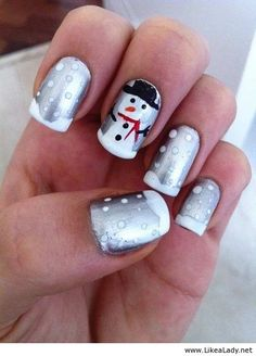 Grey nails for winter